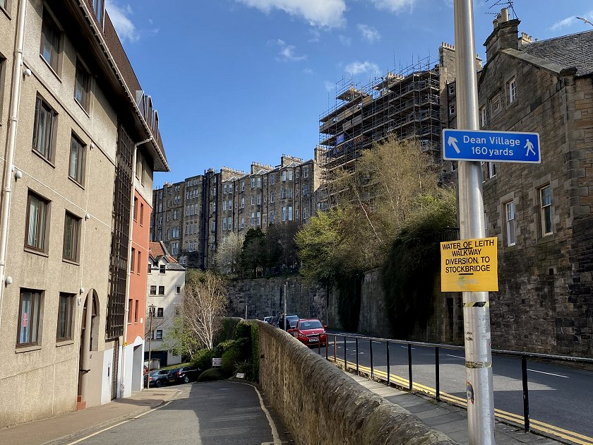 Approaching Dean Village, albeit not as intended