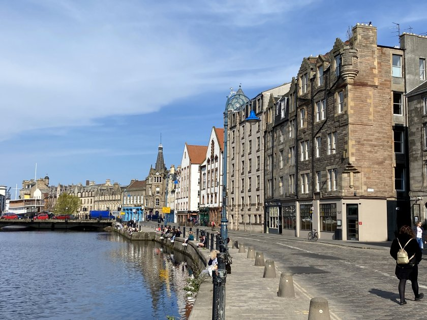 The Shore, Leith: it's the end, but where exactly?