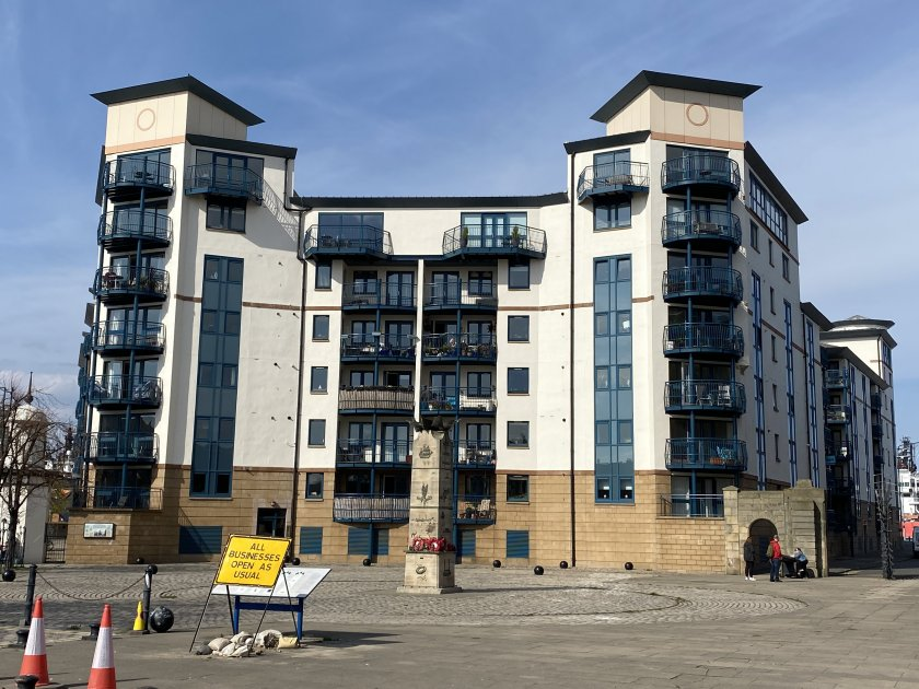 This already-attractive apartment block will soon have access to Edinburgh Trams