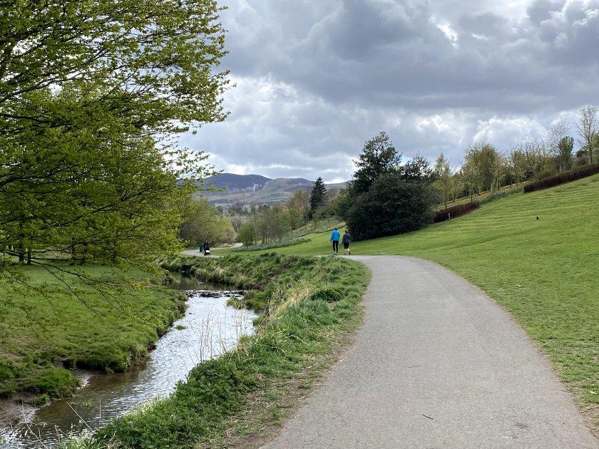 Looking back towards the Pentland Hills
