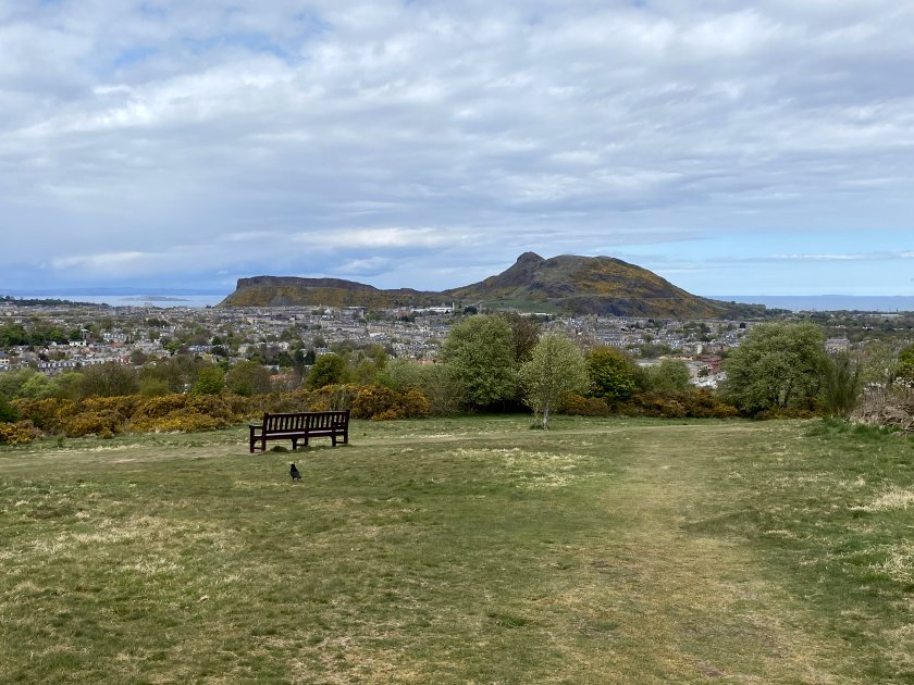 Looking towards Arthur's Seat and the Salisbury Crags
