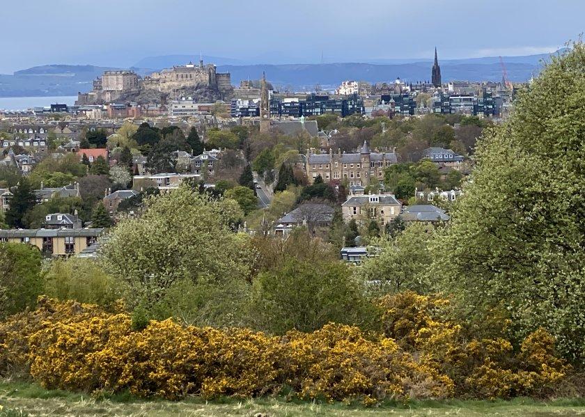Close-up of the view towards Edinburgh Castle