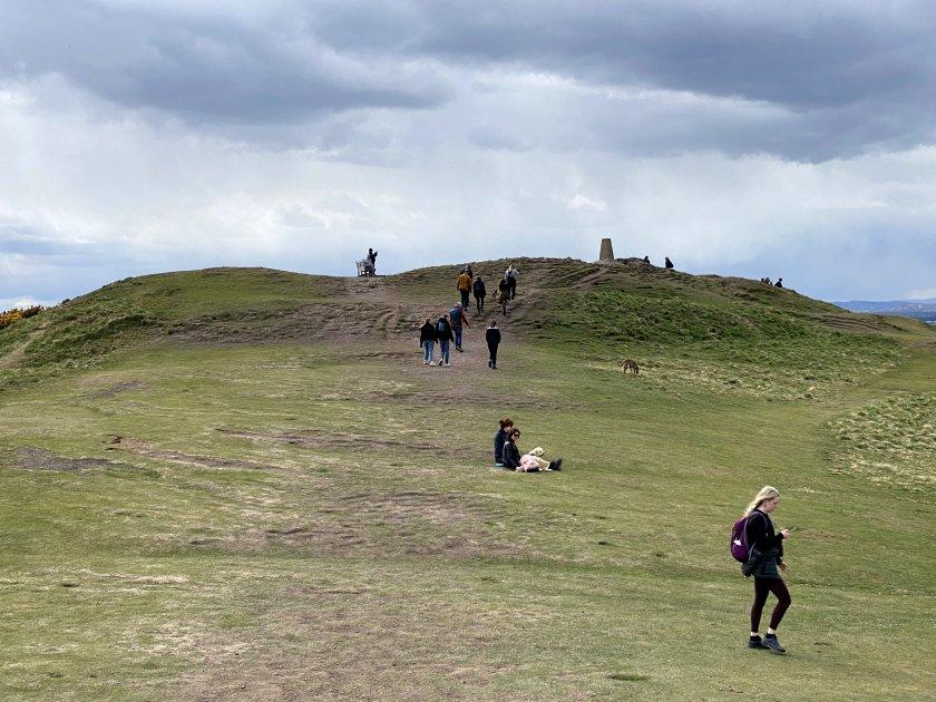 I spy with my little eye: Blackford Hill trig point