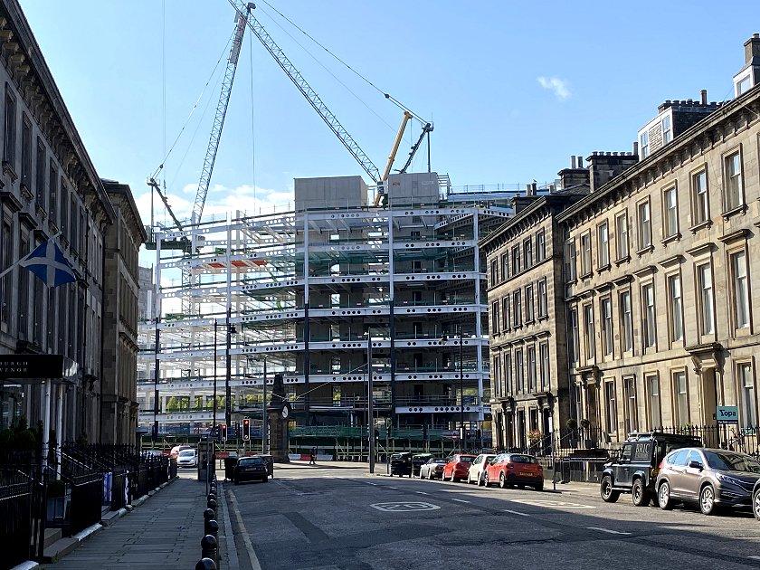 Edinburgh's new-build Hyatt Centric has already transformed the appearance of Haymarket