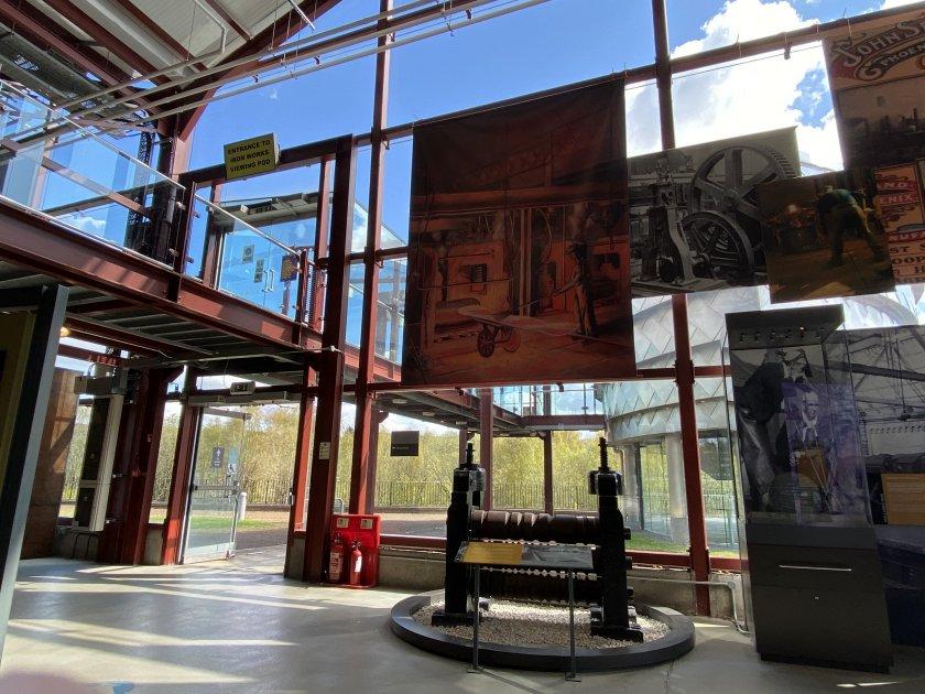 Inside the main display hall