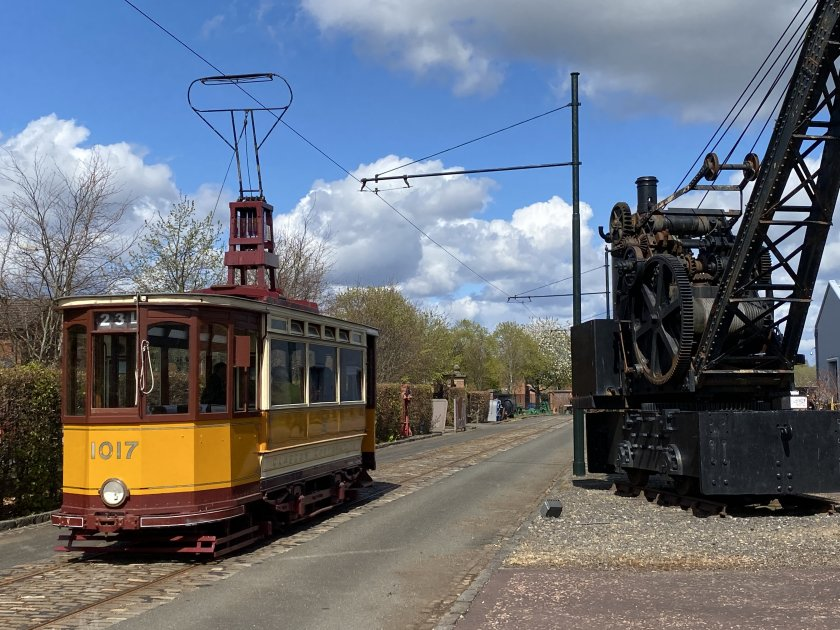 The former Glasgow single-deck tram makes another run