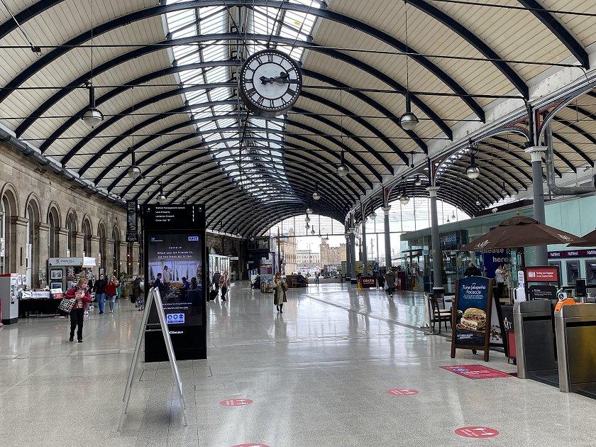 Main concourse, Newcastle Central