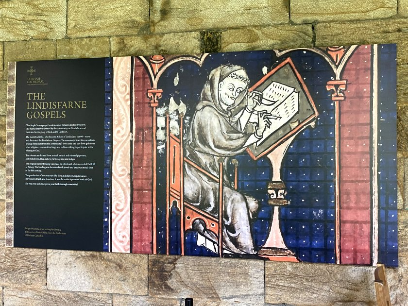 Cloisters display featuring Northumberland's famous tidal island