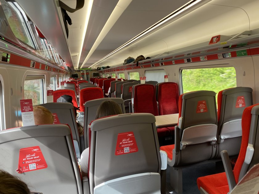 LNER Standard Class for the 12-minute ride to Newcastle Central