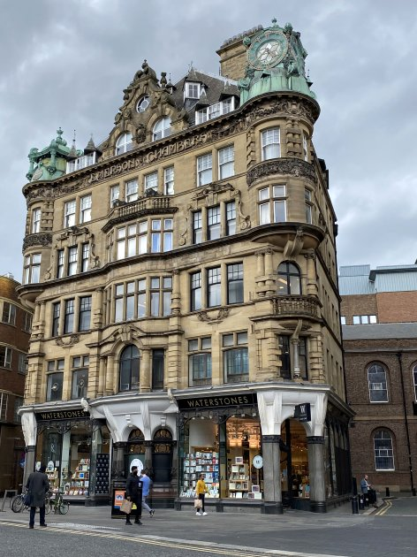 Waterstone's bookshop in the Emerson Chambers building