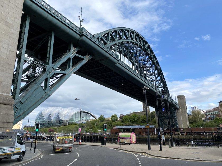 Tyne Bridge and Sage Gateshead