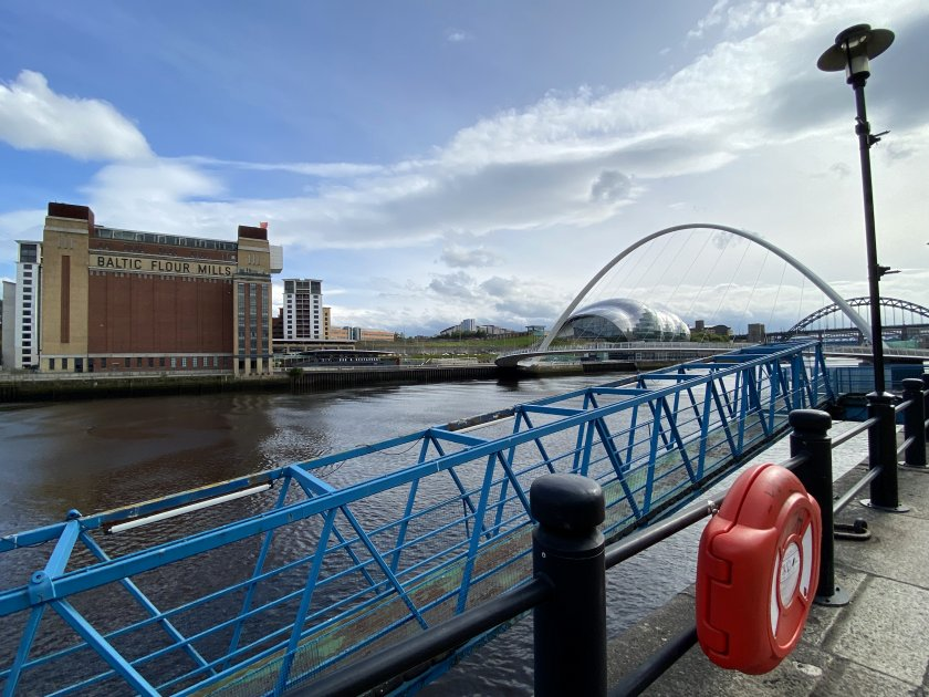 Last view before crossing to Gateshead