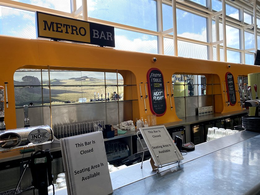 Airside at NCL, and this bar is clearly inspired by the Tyne & Wear Metro