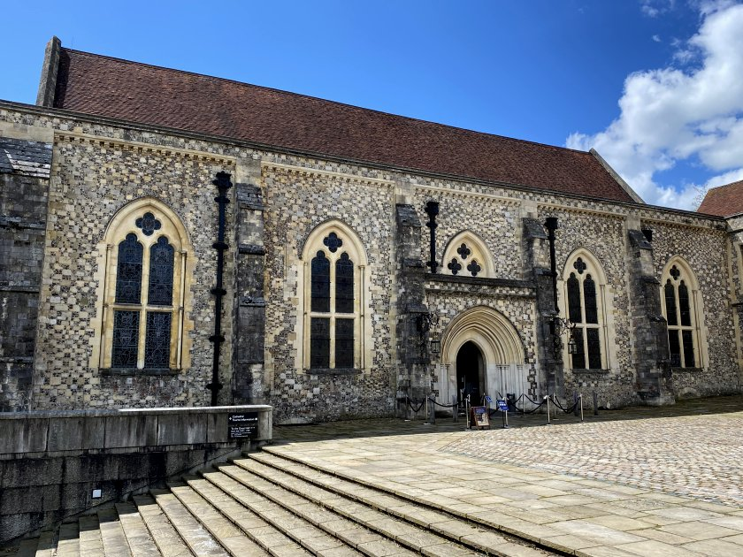 This is the Great Hall, the only surviving part of Winchester Castle