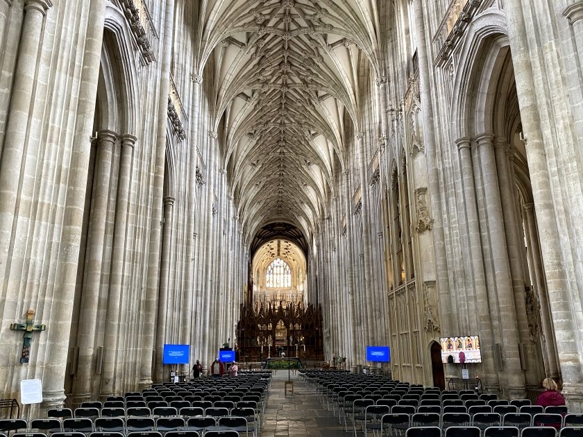 Winchester Cathedral's huge nave