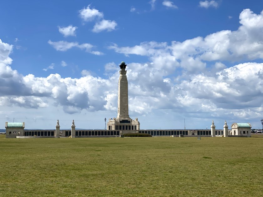 Portsmouth Naval Memorial - we'll get a closer look later