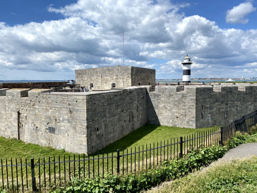 Southsea Castle was attractive enough in the sunshine, but not particularly exciting