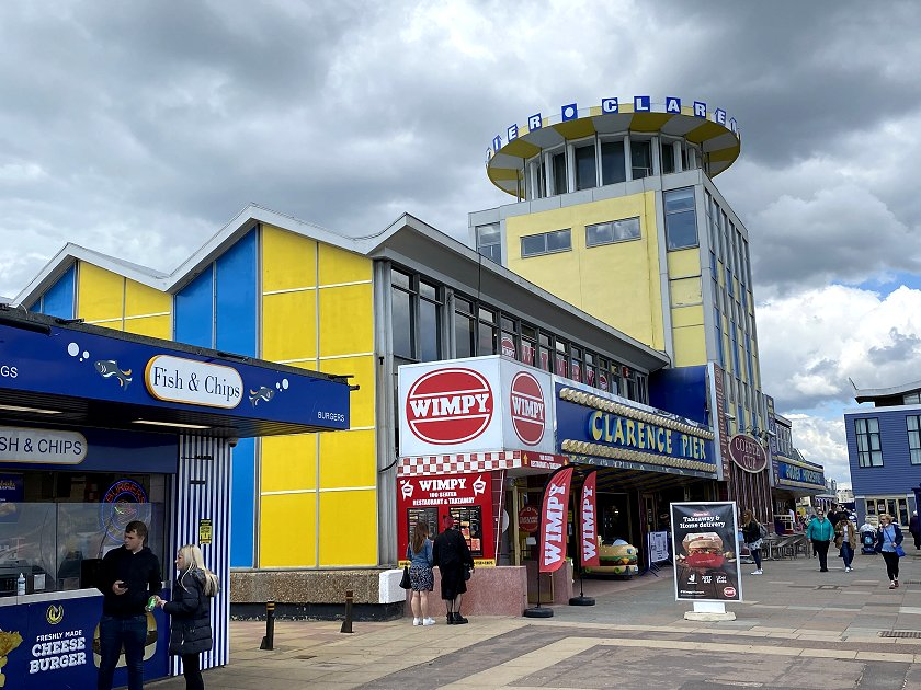 The British seaside at its tacky best. I didn't even know that Wimpy was still a thing!