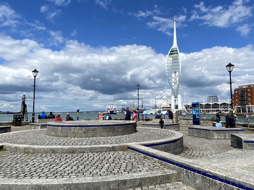 Another view of the Spinnaker Tower from the viewpoint