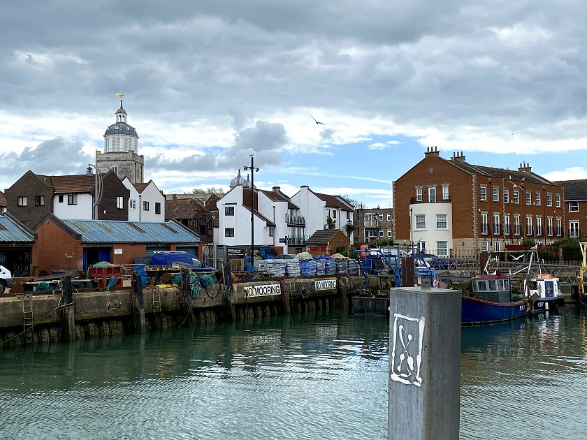 Looking towards the cathedral from the Portsmouth Point peninsula