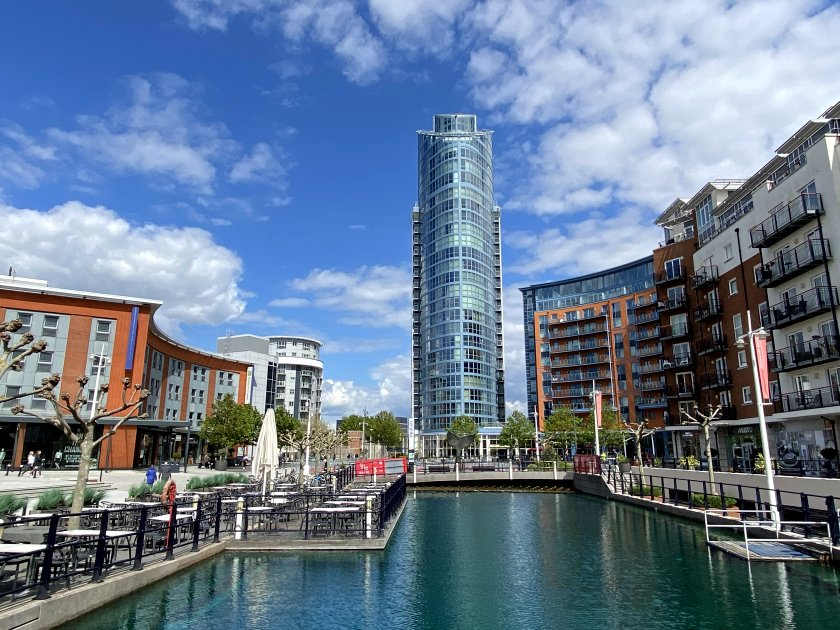 1 Gunwharf Quays, popularly known as 'The Lipstick'