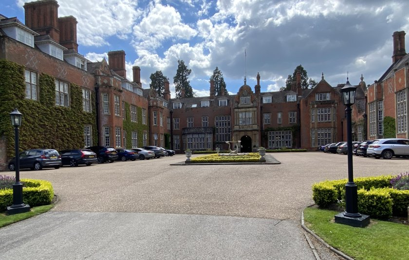 Arrival at Tylney Hall