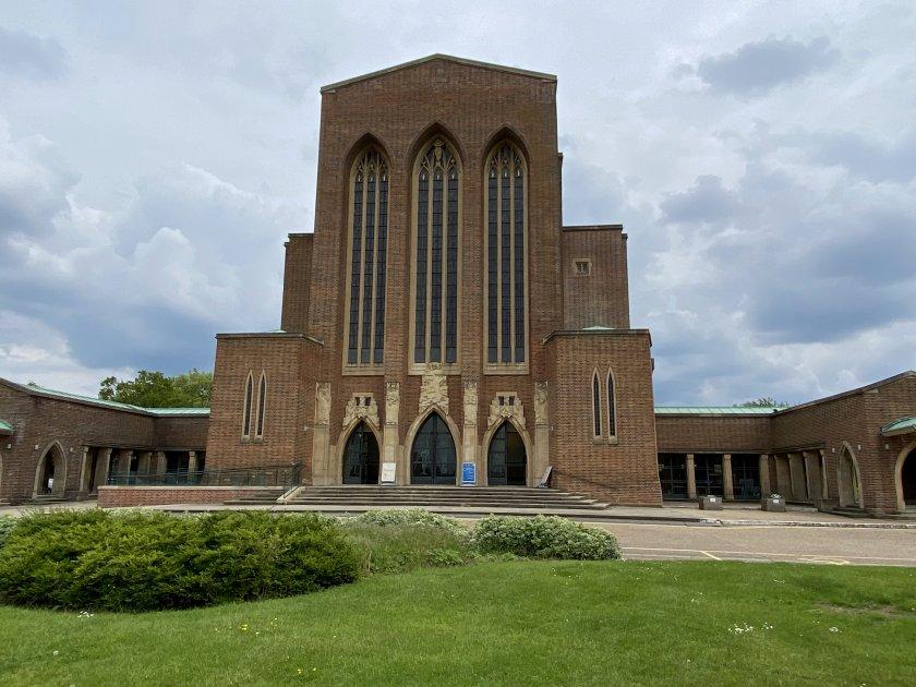 The west façade