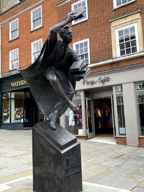 'The Surrey Scholar' on Guildford's High Street