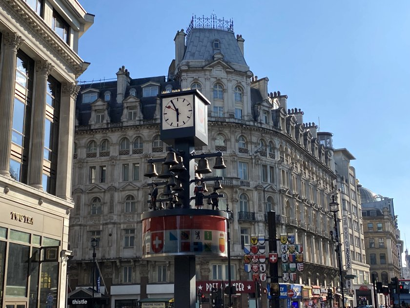 Swiss clock, Leicester Square