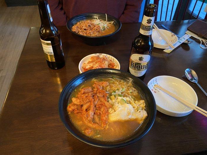 Korean Ramen to finish the day