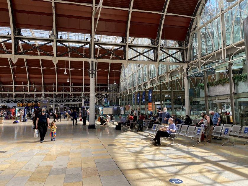 The main concourse at Paddington Station
