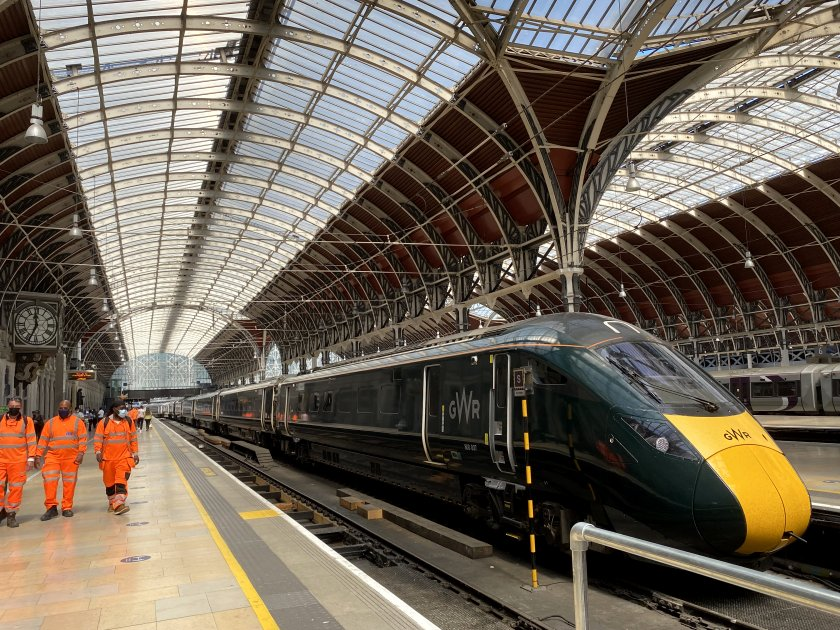 Hitachi-built GWR Intercity Express Train awaiting departure time