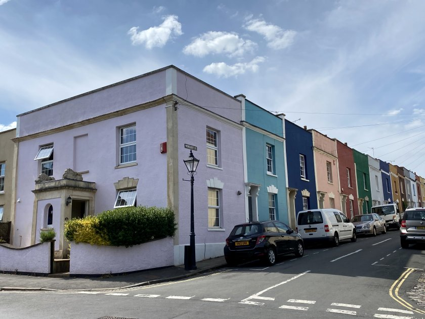 Colourful Woolcot Street in Redland