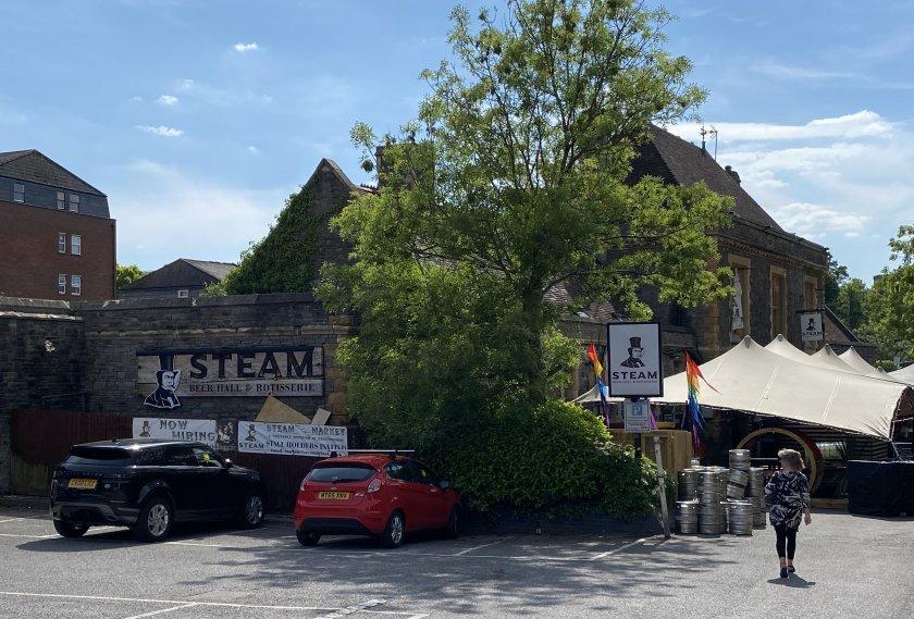 'Steam' pub, Clifton Down Station