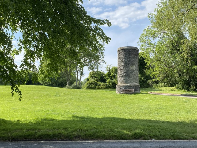 This odd-looking tower at the top of Pembroke Road is apparently a ventilation shaft