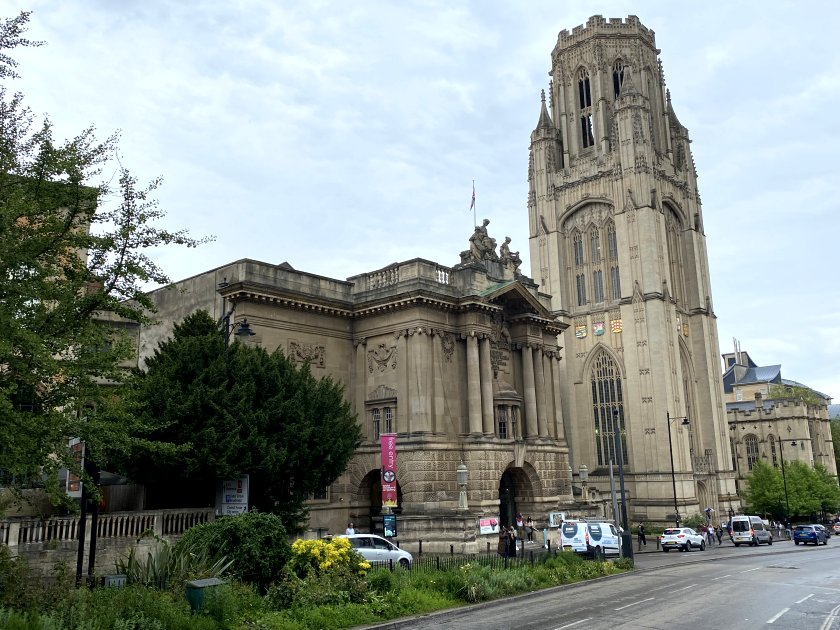 Bristol Museum & Art Gallery with the Wills Memorial Building Tower