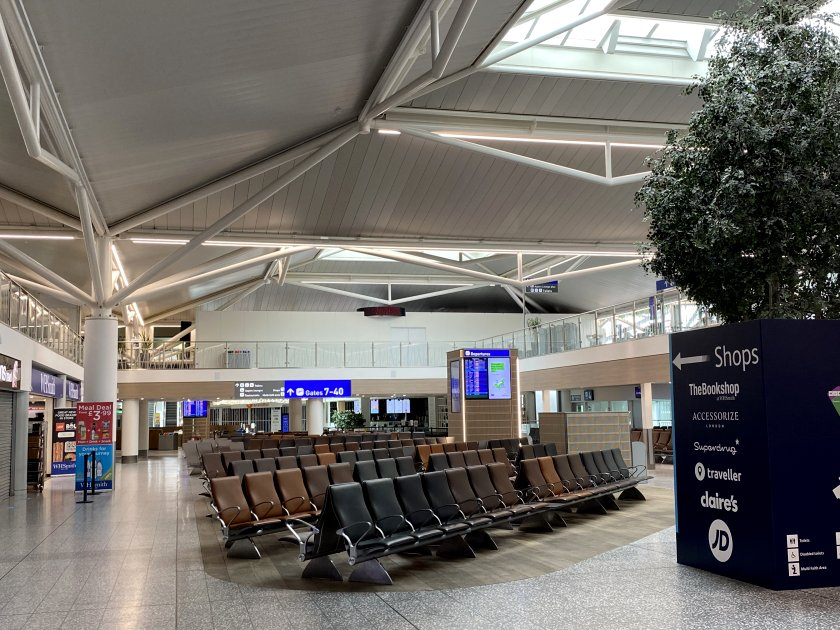 Airside at Bristol Airport, and there isn't another person in sight